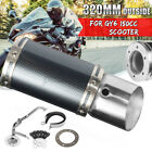 Carbon Fiber Performance Exhaust Muffler Pipe System For GY6 125 150cc Scooter