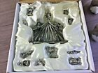 Miniature pewter nativity set