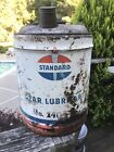 Vintage AMERICAN OIL CO 5 Gallon Can Empty AMOCO / STANDARD OIL