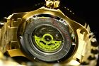Invicta Mens 48mm Scuba Master Of Ocean Automatic 18K Gold IP Gold Dial Watch