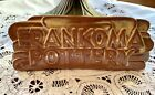 Vintage FRANKOMA POTTERY Store DISPLAY Sign Stand ~ 1955-60  Desert Gold