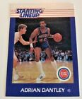 Desirable Regional 1988 Adrian Dantley  Detriot Pistons Starting Lineup CARD
