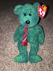 TY 1999 Original Beanie Baby Wallace the Green Bear Retired Pe Pellets