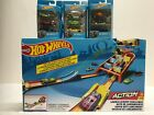 Hot Wheels Action Launch Across Challenge Track Set + 3  3 pack lot of 4