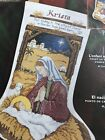 Bucilla He Is Born Christmas Nativity Jesus Cross Stitch Stocking Kit 84974