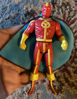 Mint RED TORNADO Super Powers Action Figure Kenner W Repro Cape Nice