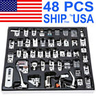 48PCS Domestic Sewing Machine Presser Foot Feet Set for Brother Singer Janome