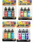 Lot of Tim Holtz Ranger ALCOHOL INK 12 bottles 4 3 pks Lot 49i