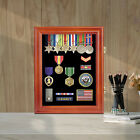 LOCKABLE Coin Display Case Glass Door Cabinet Casino Chip Pin Medal Shadow Box