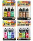 Lot of Tim Holtz Ranger ALCOHOL INK 12 bottles 4 3 pks 455