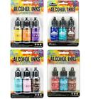 Lot of Tim Holtz Ranger ALCOHOL INK 12 bottles 4 3 pks Lot 43i
