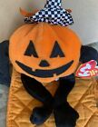 TY TRICK R TREAT the PUMPKIN BEANIE BABY - MINT with MINT TAGS