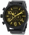 Nixon 51-30 All Black Dial SS Chronograph Quartz Men's Watch A038-1354