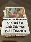 1981 Donruss DUKES OF HAZZARD Series 2 Complete Set with STICKERS