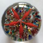 Vintage Art Glass Paperweight Floral Display Multicolored Floor Spectacular