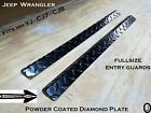 Fits 1976 95 JEEP Wrangler YJ CJ7 Large Door SILLS Diamond Plate Powder Coated
