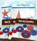 Folding Paper 4th of July Decorations By ANSCAN Big Stars and Fancy Fans 22pcs
