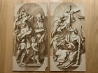 OLD MASTER Drawings Pair Design for Architecture Or Stained Windows