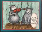 Stampendous cling mounted rubber stamp House Mouse CAT AND THE FIDDLE