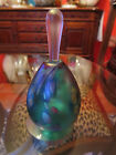 Signed Brian Maytum Art Glass 1993 Blue Irridescent 5 Perfume Bottle