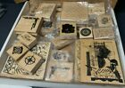 Lot Of 30 Rubber Stamps Scrap Booking Collection Club Scrap With Limited Edition
