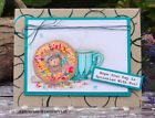 Stampendous cling mounted rubber stamp House Mouse DONUT DAY