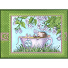 Stampendous cling mounted rubber stamp House Mouse JASMINE TEA