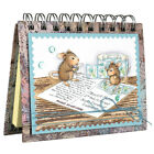Stampendous cling mounted rubber stamp HOUSE MOUSE POSTCARD MICE