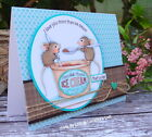 Stampendous cling mounted rubber stamp HOUSE MOUSE MOUSSE MICE