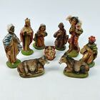 Christmas Nativity Manger Set 9 Figurines 71 97136 Made In Italy Vintage Sears