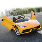 12V Electric Kids Ride On Truck Car Remote Control w LED Lights MP3 Music Yellow
