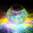 Color Changing Mosaic Solar Light Multi Colored1 Waterproof Crystal Glass Ball