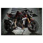 MV Agusta Brutale 1000 Serie ORO Motorcycle Canvas Painting Poster 24x36inch