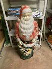 Vtg Empire Christmas Santa Claus Toy Sack Lighted Blow Mold 46 Tall