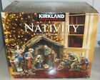 18 PC KIRKLAND SIGNATURE CHRISTMAS NATIVITY CRYSTAL ACCENTS HAND PAINTED 801036