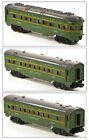 Lionel PW 2400 2401 2402 Set of 3 Pullman Cars Green 412 1948 49 VG