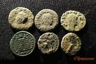 Lot of 6  VERY FINE  UNCLEANED Ancient Roman Bronze coins  2