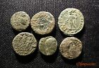 Lot of 6  VERY FINE  UNCLEANED Ancient Roman Bronze coins  4