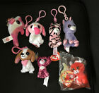 Ty Teenie Beanie Boos Babies Key/ Backpack Clips Lot Cookie Dogs,Zoey,Sparkles,+
