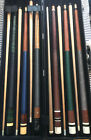 Lot Of 5 Vintage Viking 1980s Pool Cue ONeil 6x6 Case Pearl Inlay Not Straight