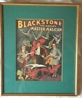 BLACKSTONE The Worlds Master Magician Print Gallery Matted Framed under Glass