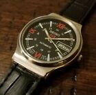 Vintage Seiko 5 Automatic Men's Watch 21 Jewel Black/Red Dial Day/Date