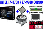 Intel i7 8700 i7 9700 CPU+ASUS PRIME B365M A Motherboard+RX 550+SSD+DDR4+COMBO