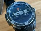 Nubeo Satellite Swiss SW200 Automatic Sapphire Domed Crystal Black Mens Watch