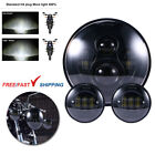 Fits For Harley Electra Glide Classic 7 LED Headlight Fog + 45 Passing Lights