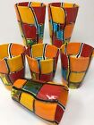 Authentic Murano Glass Pazzia Drinking Glasses Handmade Set of 6 Made In