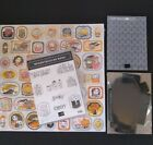 SU Monster Bash Retired Cling Stamp Set DSP Embossing Folder  Coffin Boxes