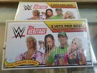 2018 Topps WWE Heritage Wrestling Factory Sealed HOBBY Box 2 HITS 2 boxes