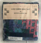 Log Cabin Quilt Kit Twin Sisters Choice Teal Blue Rose New Other