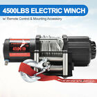 Electric Winch 4500lbs Steel Cable Recovery For Atv Utv Boat Wremote Control